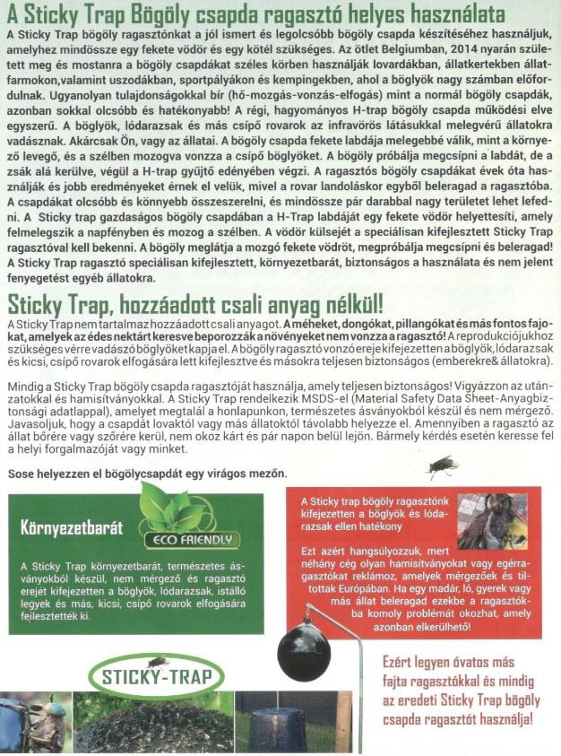 Sticky-Trap bögöly csapda 3,5l61