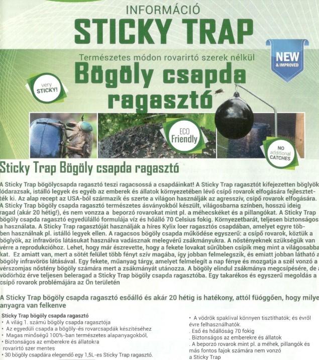 Sticky-Trap bögöly csapda 1,5l6