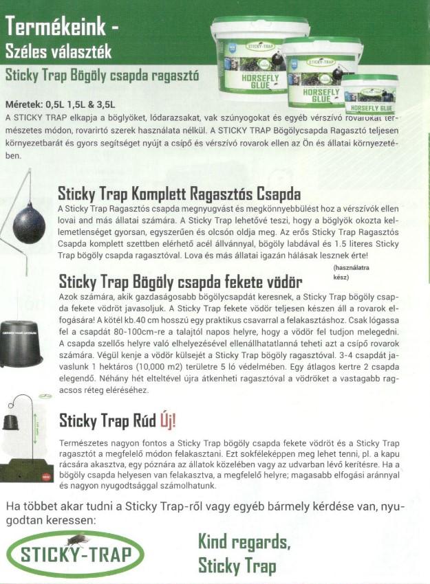 Sticky-Trap bögöly csapda 0,5l2