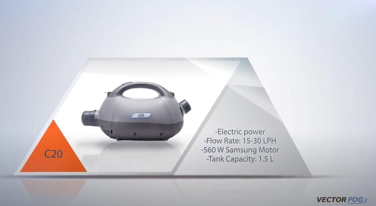 Vectorfog C20 Hideg ködképző gép 1,5L tank, 560W motor3
